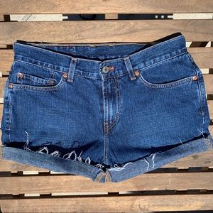 High Waist LUCKY Denim Shorts